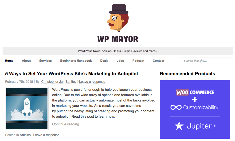 WP Mayor Blog